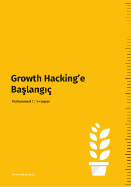 Growth Hacking`e Başlangıç Growth Hacking`e