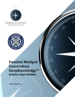 Bursa Teknik Üniversitesi DeepKnowledge™