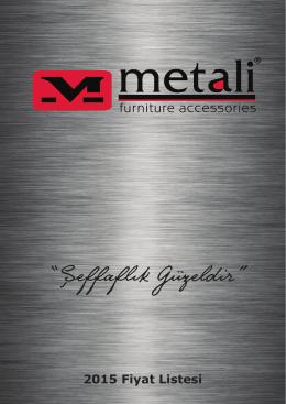 2015 ürün kataloğu - Metali Mobilya Aksesuarları