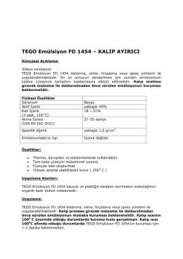 TEGO Emülsiyon FD 1454 – KALIP AYIRICI