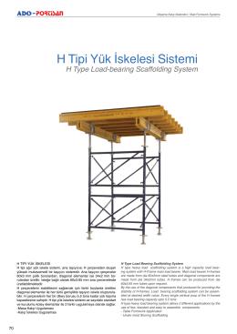 H Tipi Yük úskelesi Sistemi