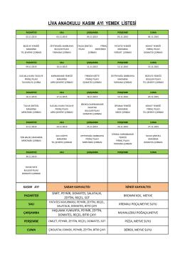 liva anaokulu kasım ayı yemek listesi