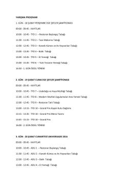 yarışma programı