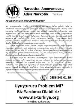 Uyuşturucu Problem Mi? Biz Yardımcı Olabiliriz! www.na