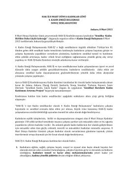 Toplantının ardından bir sonuç deklarasyonu yayınlandı. Ulaşmak
