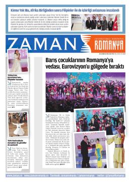 Barış çocuklarının Romanya`ya vedası, Eurovizyon`u gölgede bıraktı