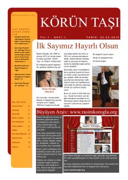 körün taşı - Rasim Köroğlu