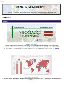 07.10.2015 - İklimBU - Boğaziçi Üniversitesi
