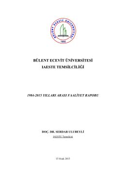 IAESTE Faaliyet Raporu - Bülent Ecevit Üniversitesi