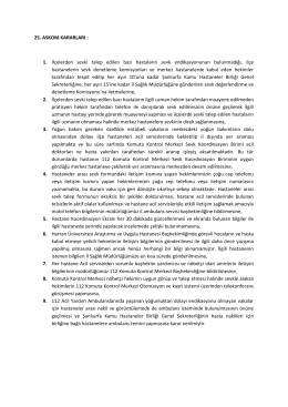 25. askom kararları - şanlıurfa il ambulans servisi başhekimliği 112