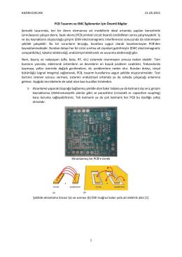 PCB tasarımı ve EMC komusunda önemli bilgiler.