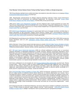 Yıllar İtibariyle Tarihsel Gelişim Olarak Türkiye`de Bilgi Toplumu