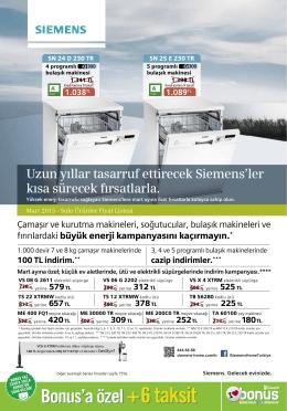 Uzun yıllar tasarruf ettirecek Siemens`ler kısa - mvm