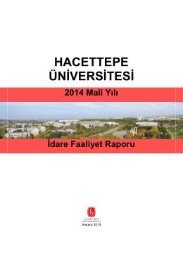 2014 Yılı Faaliyet Raporu - Hacettepe Üniversitesi Strateji Geliştirme