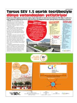Tarsus SEV 1.5 asırlık tecrübesiyle dünya vatandaşları yetiştiriyor