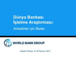 Dünya Bankası İşletme Araştırması:
