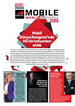 Mobil Dünya Kongresi`nde 5G`nin tohumları atıldı