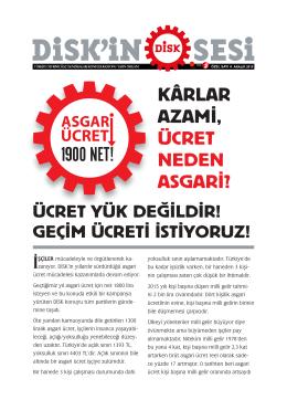 Asgari Ucret Bildiri 2015-1