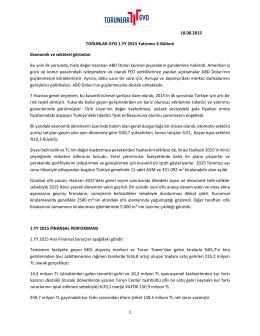 1 18.08.2015 TORUNLAR GYO 1.YY 2015 Yatırımcı E