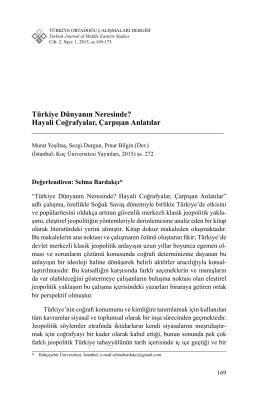 Türkiye Dünyanın Neresinde? Hayali Coğrafyalar, Çarpışan Anlatılar