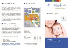 Klinikte Doğum - Klinikum Darmstadt