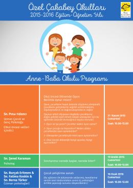 Anne-Baba Okulu programı