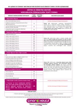 2015 Eğitim Öğretim Desteği başvuru sürecinde hangi evrakları