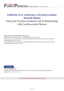 Polikistik Over Sendromu ve Kardiyovasküler Hastalık İlişkisi