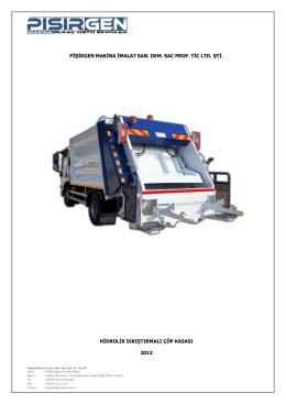 Teknik Şartname (Hidrolik Sıkıştırmalı Çöp Aracı)