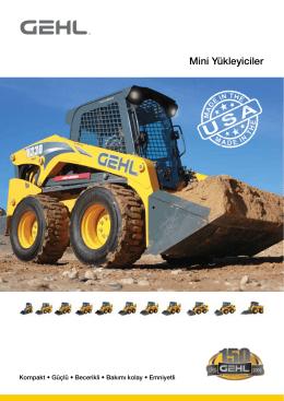 GEHL Mini Yükleyici Genel Ürün Broşürü