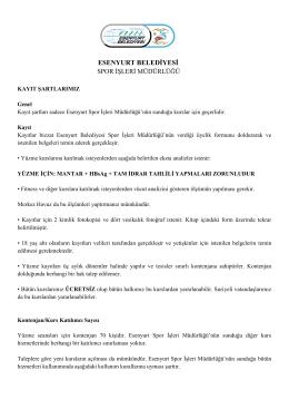 Kayıt/Genel Kurallar - esenyurt belediyesi