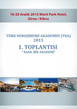 türk nöroşirürji akademisi (tna) 2015