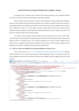 Axis2 ile Web Servis Đstemci Örnekleri (Java, Delphi, C Sharp)