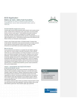 ECO Applicator: Daha az nem, daha hızlı kurutma