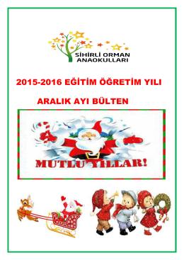 2015-2016 eğitim öğretim yılı aralık ayı bülten