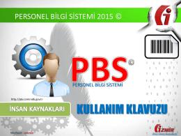 PERSONEL BİLGİ SİSTEMİ 2015 © - İzmir Vergi Dairesi Başkanlığı
