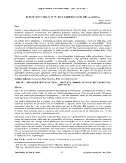iç denetim ve bilgi güvenliği ilişkisi: bölgesel bir araştırma