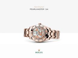 Rolex Pearlmaster 34 Watch: 18 kt Everose altın