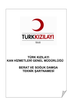 türk kızılayı kan hizmetleri genel müdürlüğü berat ve soğuk damga