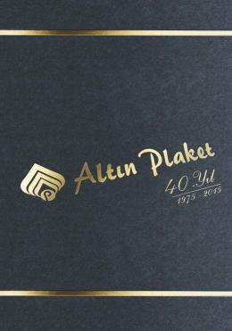 altın plaket katalog