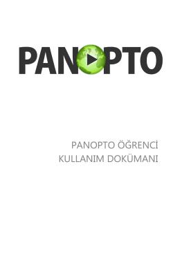 Panopto Öğrenci Kullanım dokümanı