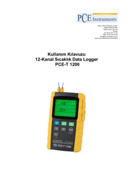 Kullanım Kılavuzu 12-Kanal Sıcaklık Data Logger