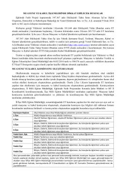 dikkat edilecek hususlar - Zonguldak İl Milli Eğitim Müdürlüğü