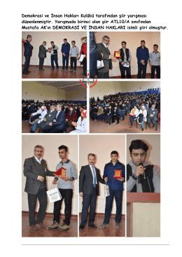 Demokrasi ve İnsan Hakları Kulübü tarafından şiir yarışması