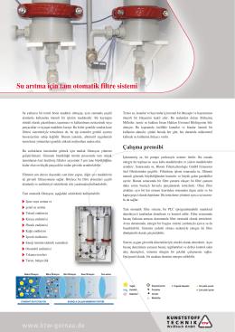 www.ktw-gornau.de Su arıtma için tam otomatik filtre sistemi