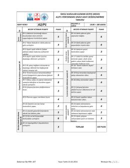 iskele kurulum elemanı seviye-3rev01 a2/p1 performans sınavı aday