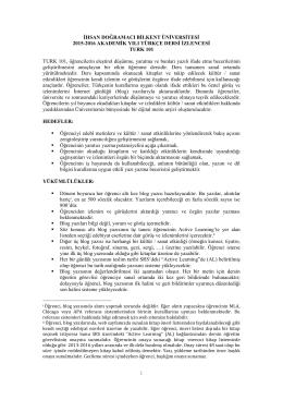 TURK 101 - Bilkent WEB2 Services
