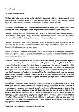 11. şubat 2015 bilgilendirme - Çanakkale Ticaret ve Sanayi Odası