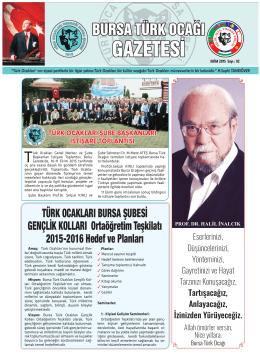 ekim 2015 - türk ocakları bursa şubesi