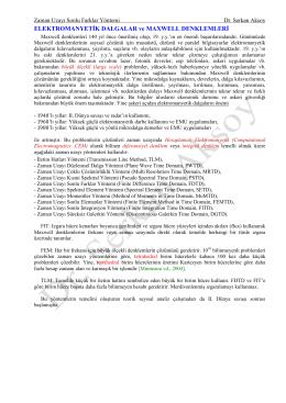 ELEKTROMANYETİK DALGALAR ve MAXWELL DENKLEMLERİ